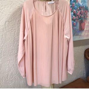 Pale Pink Pastel Top, Long Sleeve & Flowing